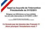 Ce soir, on boycotte le Président à 20h !