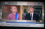 La Femen Inna Shevchenko, sur le plateau de BFMTV, avec BHL pour parler de l'Ukraine