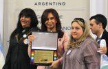 La présidente d'Argentine, indéfectible soutien du lobby homosexuel