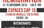 Assises de la remigration ce samedi à Paris