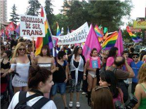 Manifestation de  transgenres et travestis argentins