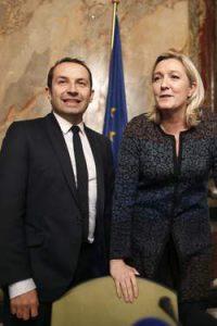 Marine Le Pen et Sébastien Chenu, co-fondateur de Gaylib