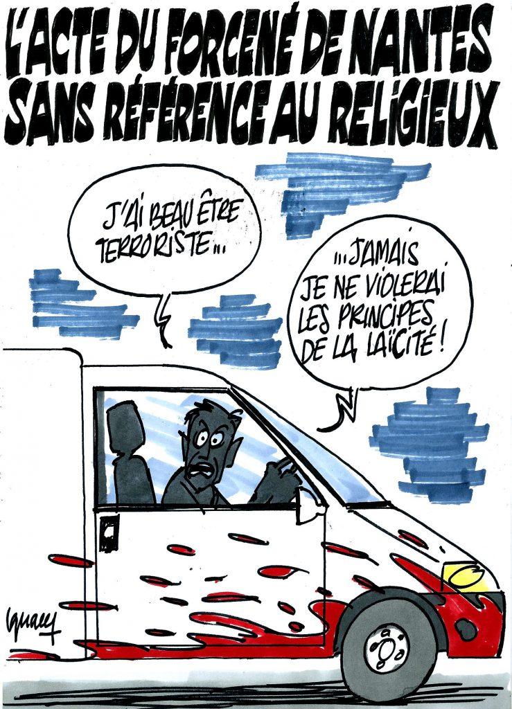 Ignace - L'acte du forcené de Nantes sans référence au religieux
