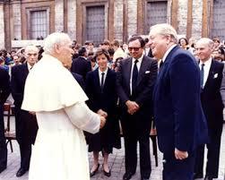 Jean-Marie Le Pen et le pape Jean-Paul II