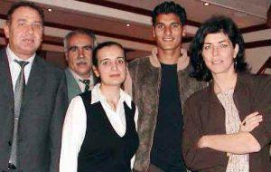 Joëlle Milquet, le 10 novembre 2003, lors d'une réunion avec l'extrême droite turque à Bruxelles