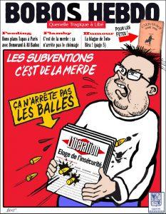 Un autre exemple de pastiche de Charlie Hebdo : Bobo Hebdo