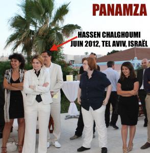 L'imam Chalghoumi avec Caroline Fourest à Tel Aviv (photo trouvée par le site Panamza)