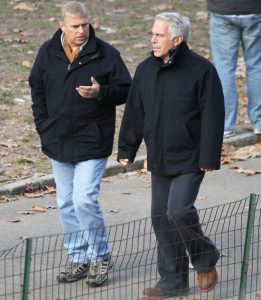 Le prince Andrew et son ami Jeffrey Epstein, millionnaire et délinquant sexuel