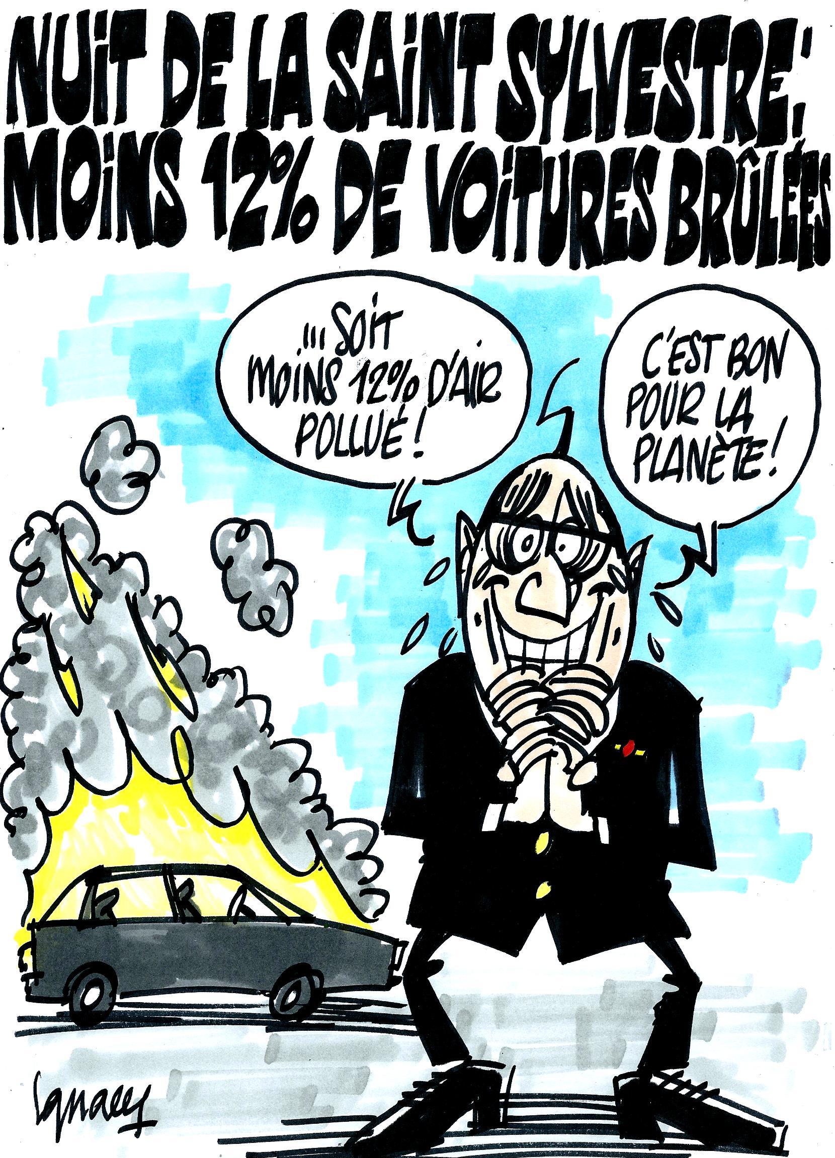 saint sylvestre voitures brulees