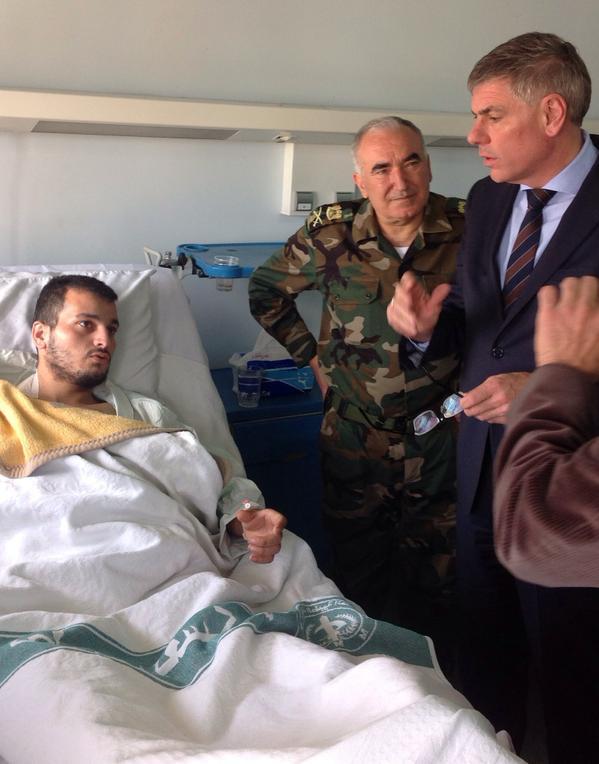 Visite d'un hôpital de Damas