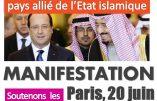 Alain Escada appelle à sanctionner l'Arabie Saoudite, complice de l'Etat Islamique, et à manifester le 20 juin à Paris