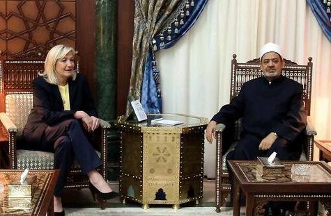 Marine-Le-Pen-Egypte-imam
