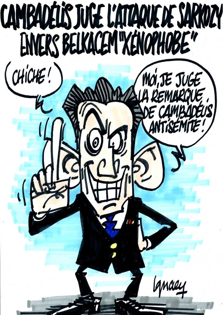 """Ignace - Sarkozy """"xénophobe"""", selon Cambadélis"""