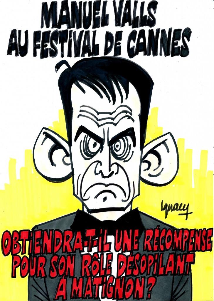 Ignace - Manuel Valls au festival de Cannes