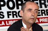The founder and director of Paris-based Reporters Sans Frontieres (Reporters Without Borders - RSF) Robert Menard, gestures as he speaks during a conference on the 2008 Beijing Olympic Games, on August 22, 2008 in Paris. Menard has shot to international attention with his calls for a boycott of the opening ceremony of the games and for his condemnation of China's crackdown on Tibetan protestors. AFP PHOTO PIERRE VERDY