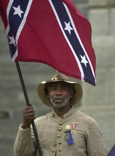 """I came to honor Strom Thurmond,"" said 55-year-old H.K. Edgerton of Ashville, N.C.  (Takaaki Iwabu photo / The State)"