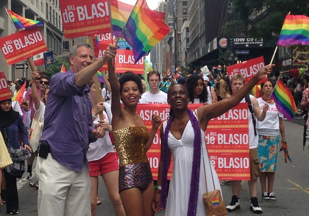 de blasio gay pride