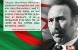 «Un jour, des millions d'hommes quitteront l'hémisphère sud pour aller dans l'hémisphère nord. Et ils n'iront pas là-bas en tant qu'amis.» – Citation de Boumediene, président algérien, 1974