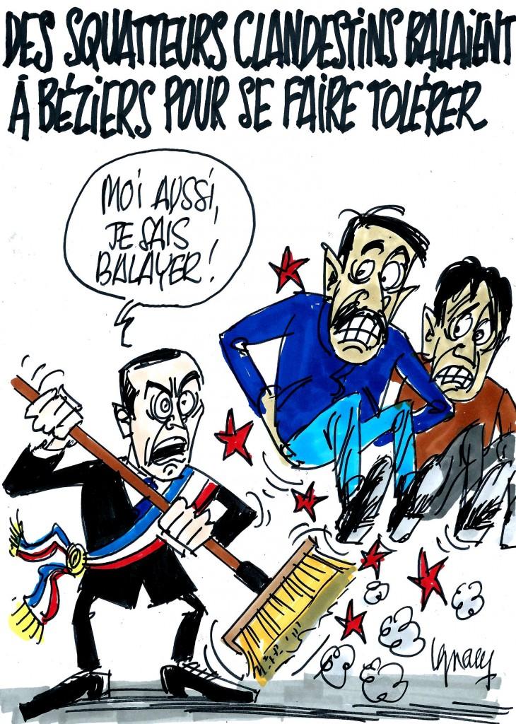 Ignace - Squatteurs qui balaient à Béziers