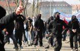 Paris – Des nervis anarcho-communistes arrachent et brûlent des drapeaux français placés en hommage aux victimes des attentats du 13 novembre