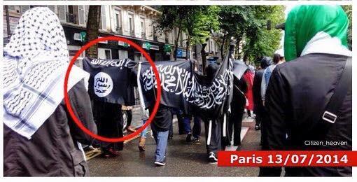 DRAPEAU islamiste Paris