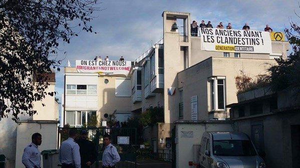 Les identitaires ont occup le toit de la maison de for Accueil temporaire en maison de retraite