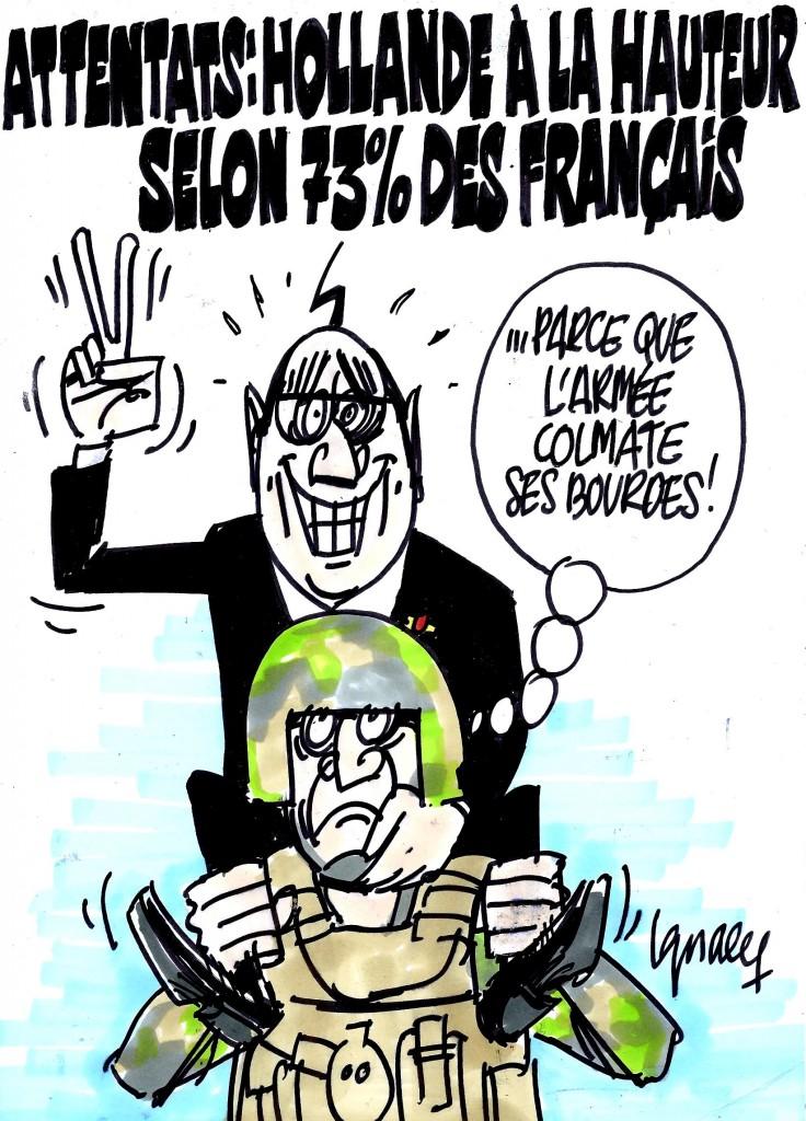 """Ignace - Hollande """"à la hauteur"""" des attentats"""