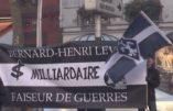 «BHL, retourne en Israël», scande le Renouveau Français