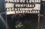 La nuit, des Calaisiens viennent témoigner leur soutien aux policiers et pompiers