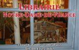 Les prochaines séances de dédicaces à la Librairie Notre-Dame de France