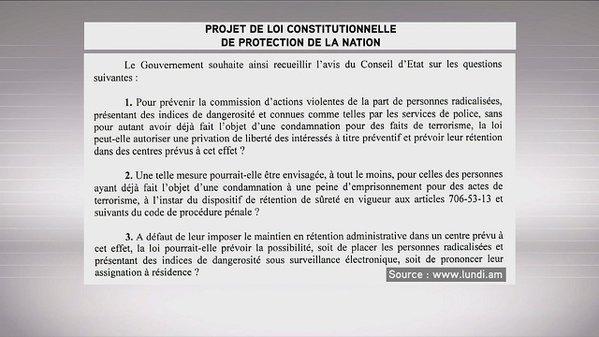 projet de loi protection de la nation