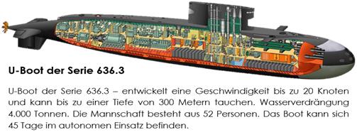 Le sous-marin de la série 636.3 développe une vitesse pouvant atteindre 20 nœuds et a la capacité de plonger à une profondeur de 300 mètres. Quatre unités ont déjà été livrées et mises en service. Le 8 décembre 2015, l'un de ces sous-marins croisait en Méditerranée et a lancé des missiles de croisière Kalibr contre des positions terroristes en Syrie.