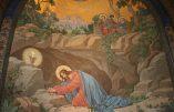 Cours de catéchisme : l'Agonie au Jardin des Oliviers