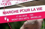 Marche pour la Vie à Bruxelles le 17 avril