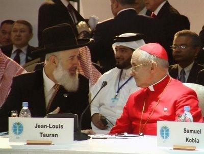 Le grand rabbin Metzger avec le cardinal Tauran
