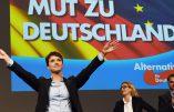 Frau Frauke Petry (AfD) dit « NEIN » à la police de la pensée