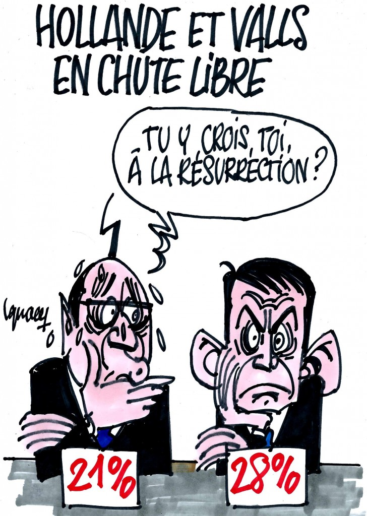 Ignace - Hollande et Valls au plus bas