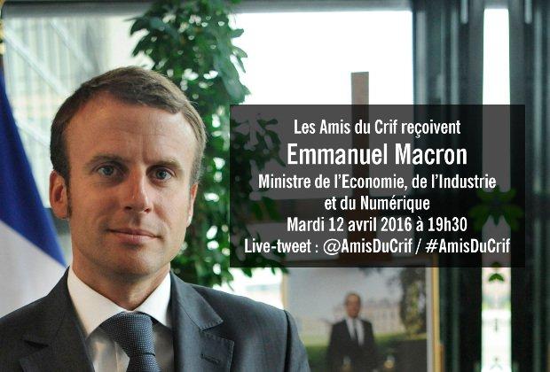 Emmanuel Macron CRIF