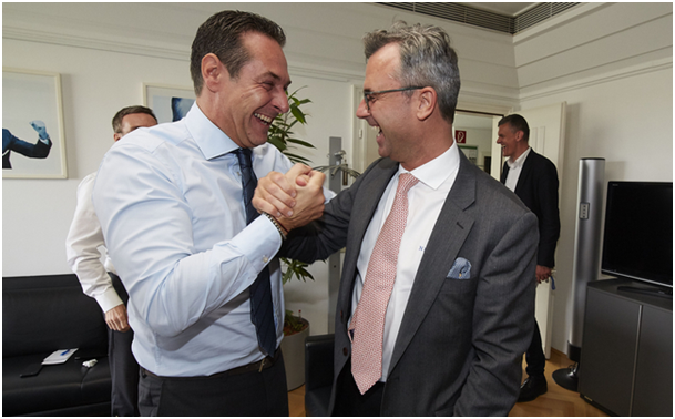 Heinz-Christian Strache et Norbert Hofer (Source : FPÖ)