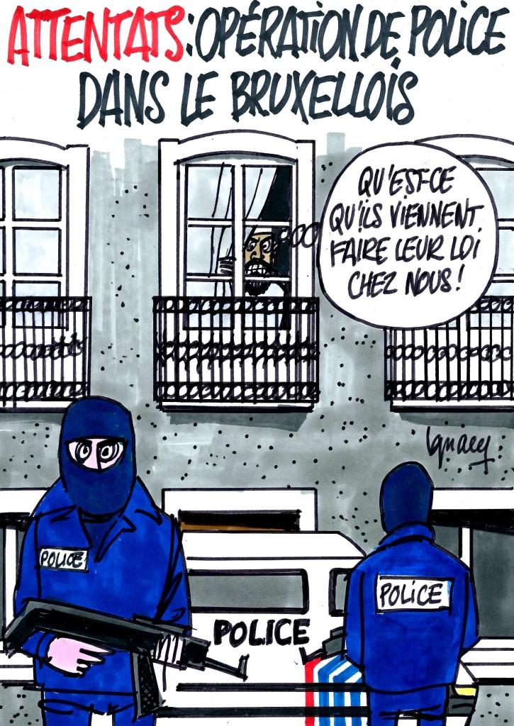 Ignace - Opération policière suite aux attentats