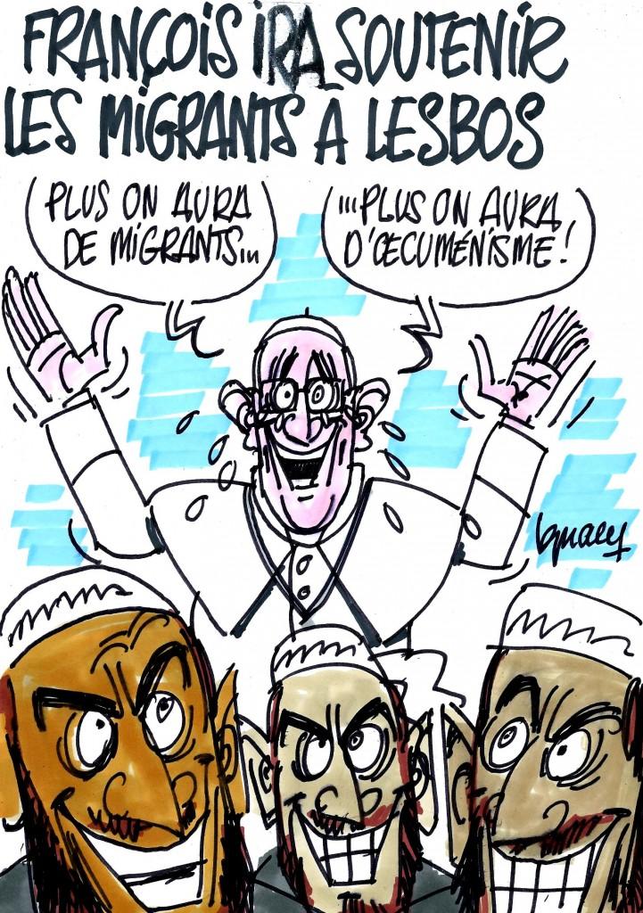 Ignace - Le pape François soutient les migrants