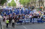 Du défilé d'hommage à Ste Jeanne d'Arc organisé par Civitas à la convergence des patriotes contre le mondialisme
