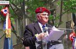 Discours de Roger Holeindre au défilé d'hommage à Ste Jeanne d'Arc (8 mai 2016)