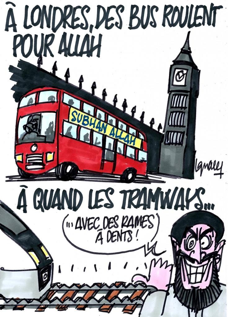 Ignace - Des bus londoniens roulent pour l'islam