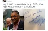 Quand Jesse Jackson dînait avec Jean-Marie Le Pen et son épouse