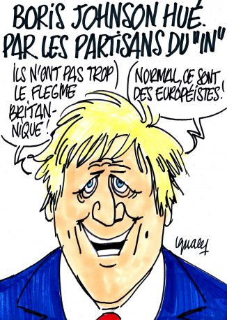 "Ignace - Boris Johnson hué par les partisans du ""In"""