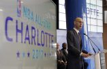 FILE - In this Tuesday, June 23, 2015 file photo NBA Commissioner Adam Silver speaks during a news conference to announce Charlotte, N.C., as the site of the 2017 NBA All-Star basketball game. The NBA is moving the 2017 All-Star Game out of Charlotte because of its objections to a North Carolina law that limits anti-discrimination protections for lesbian, gay and transgender people, Thursday, July 21, 2016. (AP Photo/Chuck Burton, File)