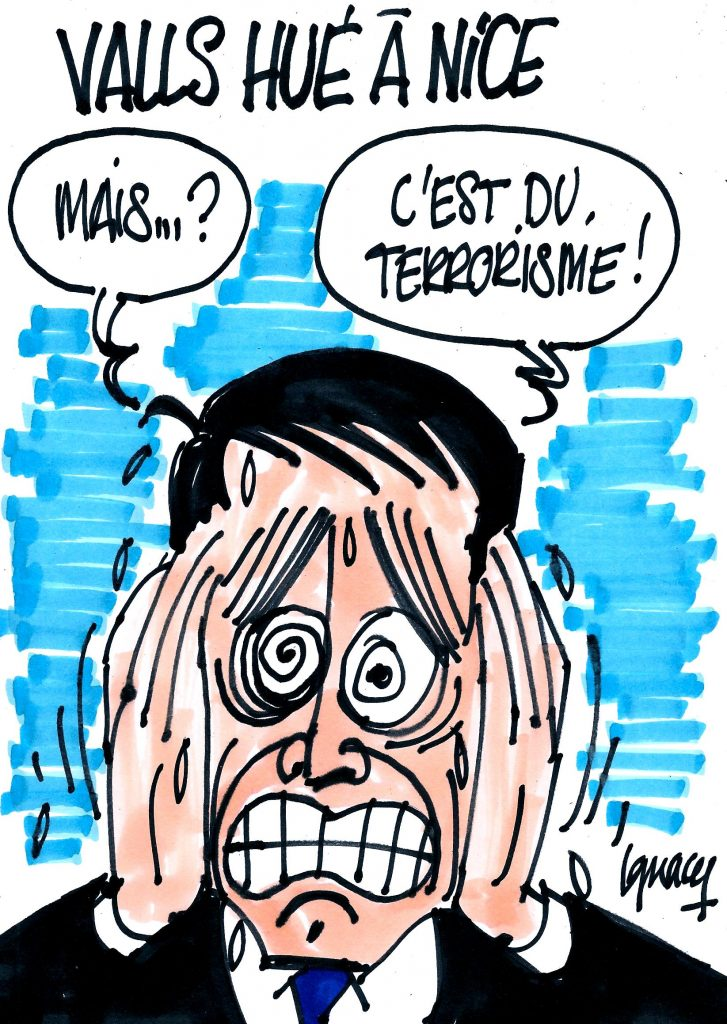 Ignace - Valls hué à Nice