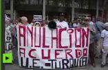 «Obama, Go Home !» – Les Espagnols manifestent contre la visite du président américain