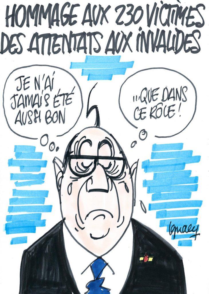 Ignace - Hommage aux victimes des attentats